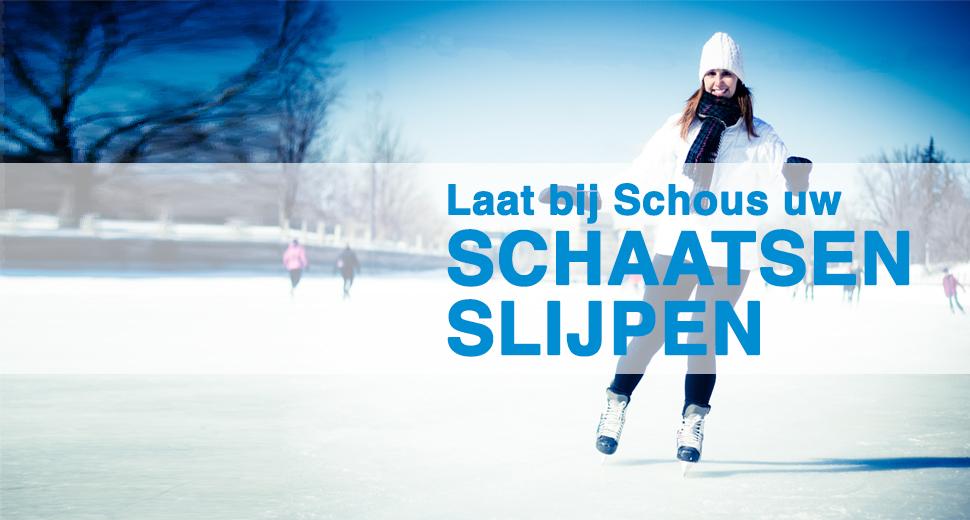 Laat uw schaatsen slijpen bij Schous
